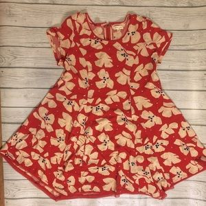 UO Silence + Noise red floral witchy dress-Medium